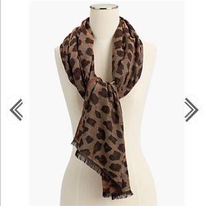 Talbots leopard jacquard scarf